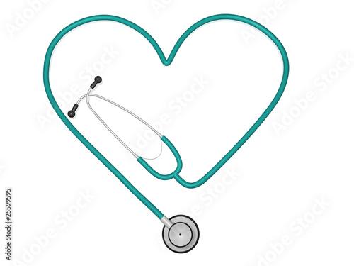 Poster Heart Stethoscope