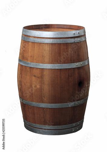 Leinwanddruck Bild Fass aus Holz
