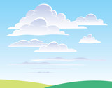 Daytime sky with clouds poster