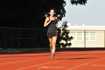 female runner training