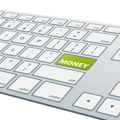 Close-up aluminum keyboard - Money [cmyk]