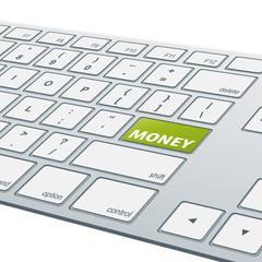 Close-up aluminum keyboard - Money [cmyk]