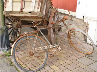 old bike on the road
