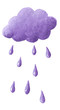 Purple cloud and purple rain