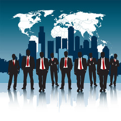 man in business growth and success