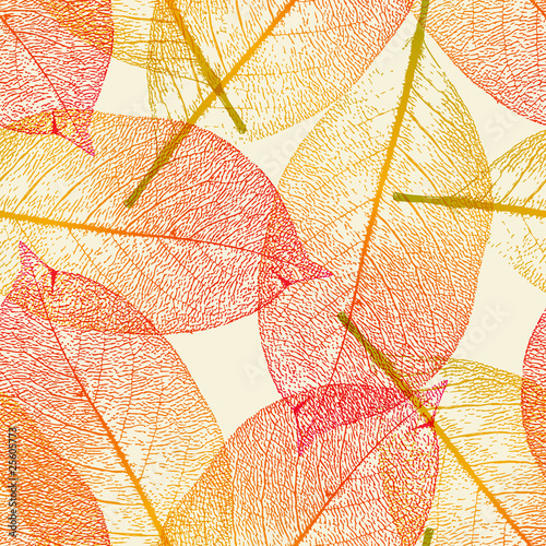 seamlessly tiling autumn leaves pattern