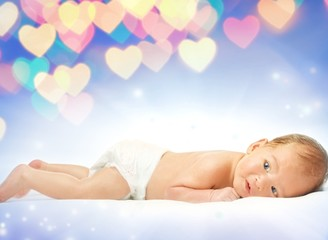 Beautiful baby over abstract background