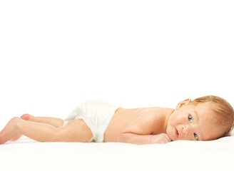 Beautiful baby isolated on white