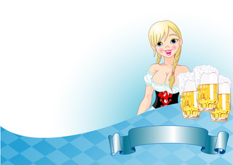 Oktoberfest girl background
