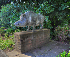 Wild Boar Statue in Lohr am Main, Germany (Keilerstatue)
