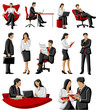 Business woman and man in office