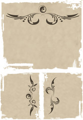 grunge vector ornate and frame