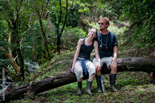 Tourist couple in Costa Rica