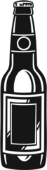 Beer Bottle Vinyl Ready Vector Illustration