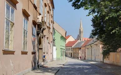 rue étroite de Bratislava