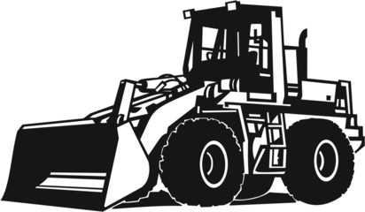 Front Loader Vinyl Ready Vector Illustration