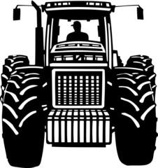 Tractor Vinyl Ready Vector Illustration