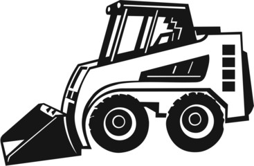 Bobcat Front Loader Vinyl Ready Vector Illustration