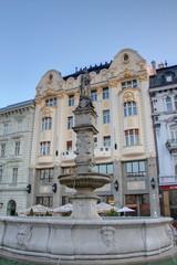 fontaine et mairie de Bratislava