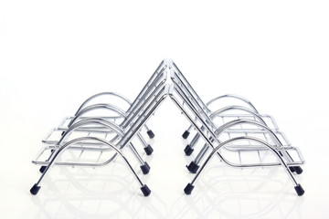 Top View Silver Steel Chair