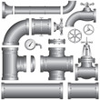 Set of pipeline elements (vector) - 25614535