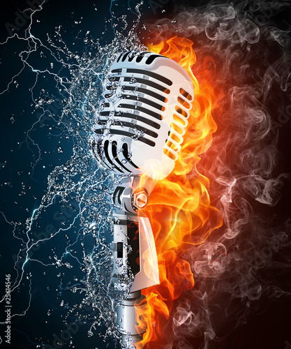 Microphone on Fire and Water - 25614546