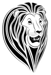 Lion in the form of a tattoo