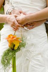 Bride wedding dress details