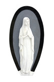 A Marble Figure from a Graveside Headstone. poster