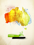 abstract illustration of the continent Australia