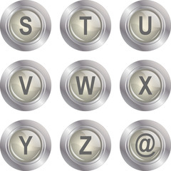 Alphabet Button - S-Z