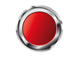 3D Glossy Button in Rot