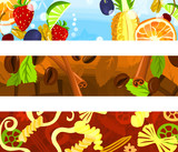 Set of a header background D