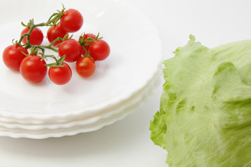 Tomatoes and iceberg lettuce