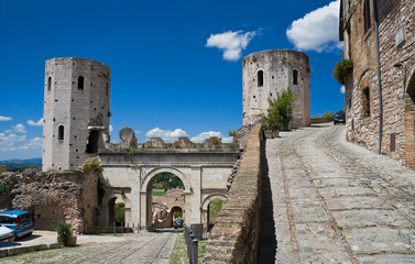 Towers of Properzio. Spello. Umbria.