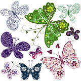 Abstract Butterflies (Set)