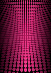 Techno vector doted illustration - pink doted techno floor