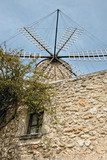 Restored traditional windmill in Sineu poster