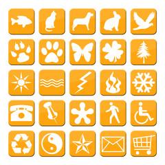 iconos naranja serie 3