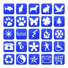 iconos azul serie 3