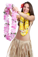Hawaiian Lei Woman