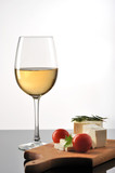 Wine with cheese and fresh tomatoes