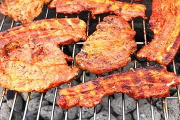 Grillen - Steak, Speck