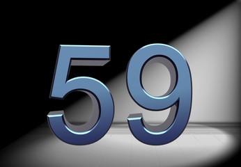 Zahl im Rampenlicht