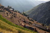 Rice field terraces in Central Nepal, Annapurna area poster