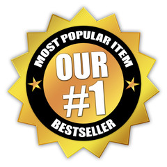 "Star-shaped Sticker ""Our Number 1 Bestseller"""