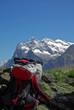 Rast mit Aussicht auf Eiger-Nordwand
