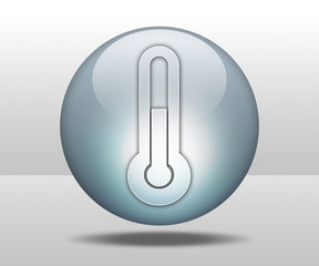 "Hovering Sphere Button ""Temperature / Thermometer"""