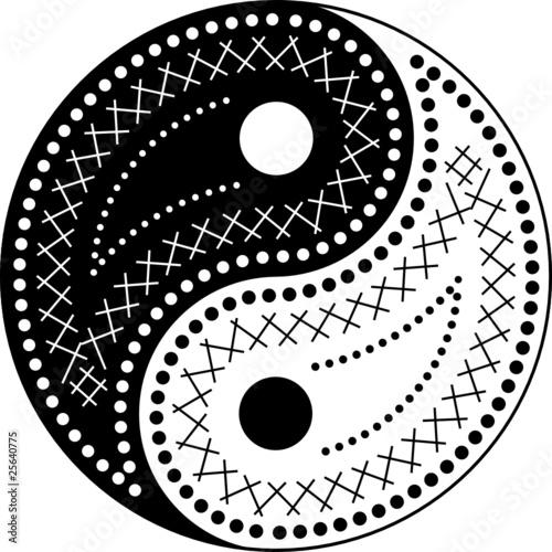 The yin-yang paisley style