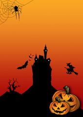 Halloween flyer blanko